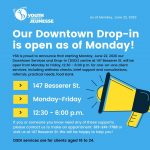 Our Downtown Drop-in is open as of Monday!